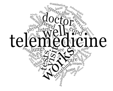 COVID-19 Survey #3 Telehealth word cloud