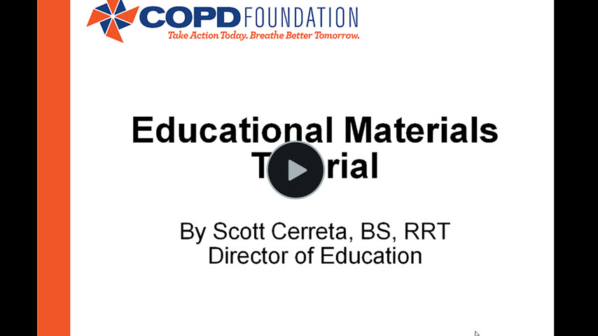 Education Materials Tutorial