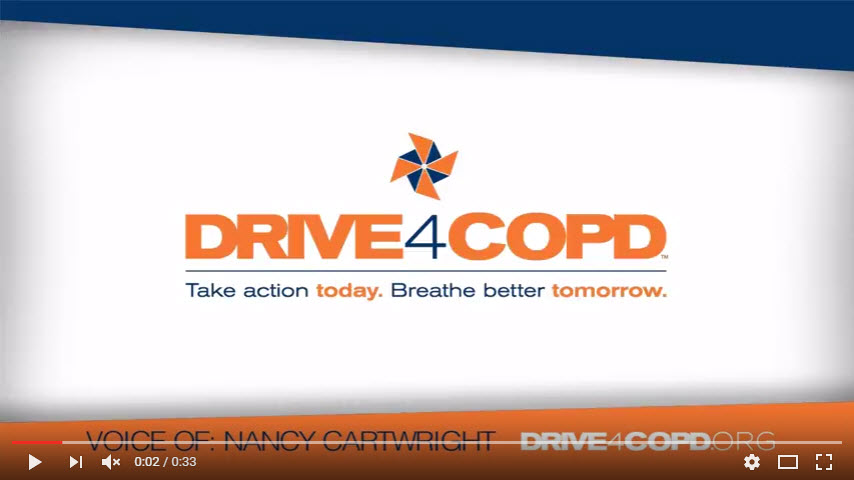 Nancy Cartwright Supports Drive4COPD