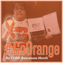 Kandy Blankartz Goes Orange for COPD Awareness