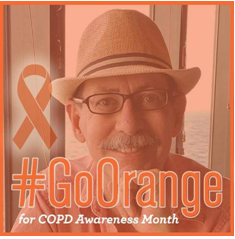 John Linnell Goes Orange for COPD Awareness