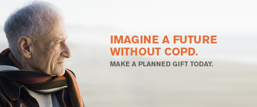 Imagine a future without COPD. Make a planned gift. (desktop)