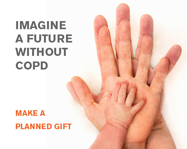 Imagine a future without COPD. Make a planned gift. (mobile)