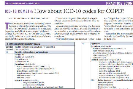 ICD-10 codes for COPD