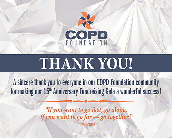 COPD Foundation 15th Anniversary Fundraising Gala