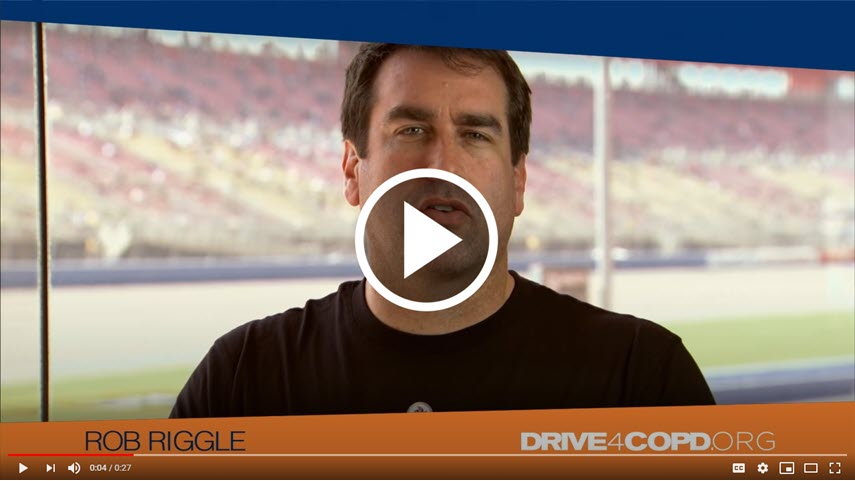 Rob Riggle supports DRIVE4COPD | Click to watch the video.