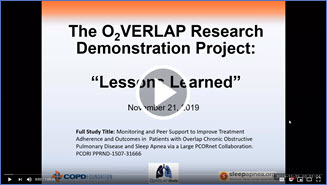 "O2VERLAP Study - ""Lessons Learned and study overview"" Click to watch the video."