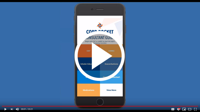 Watch a demo of the COPD Pocket Consultant Guide mobile app