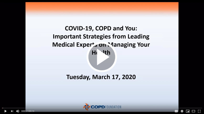 COVID-19, COPD and You: Important Strategies from Leading Medical Experts on Managing Your Health