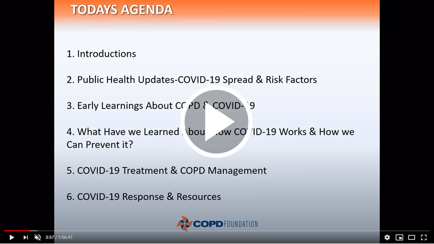 COVID-19 Updates for the COPD Community